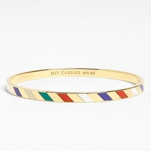 "kate spade ""get carried away"" idiom bracelet"